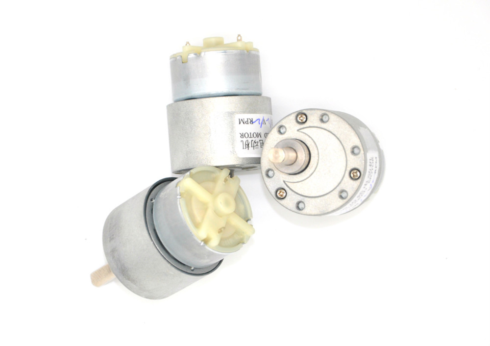 Free shipping 37GB 37MM 12V DC 120RPM High Torque Gear Box Electric Motor  Deceleration motor