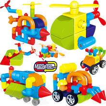Magnetic Blocks Aircraft Magnetic Designer Building Construction Toys Set Magnet Educational Toys For Children Kids Gift(China)