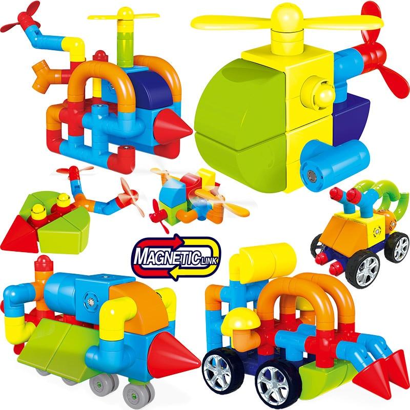 Magnetic Blocks Aircraft Magnetic Designer Building Construction Toys Set Magnet Educational Toys For Children Kids Gift