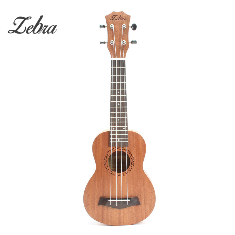 Hot High Quality 21Inch Ukulele Hawaii Mini Guitar 4 Strings Uke Brown Rosewood Instrument Soprano Ukelele Gift