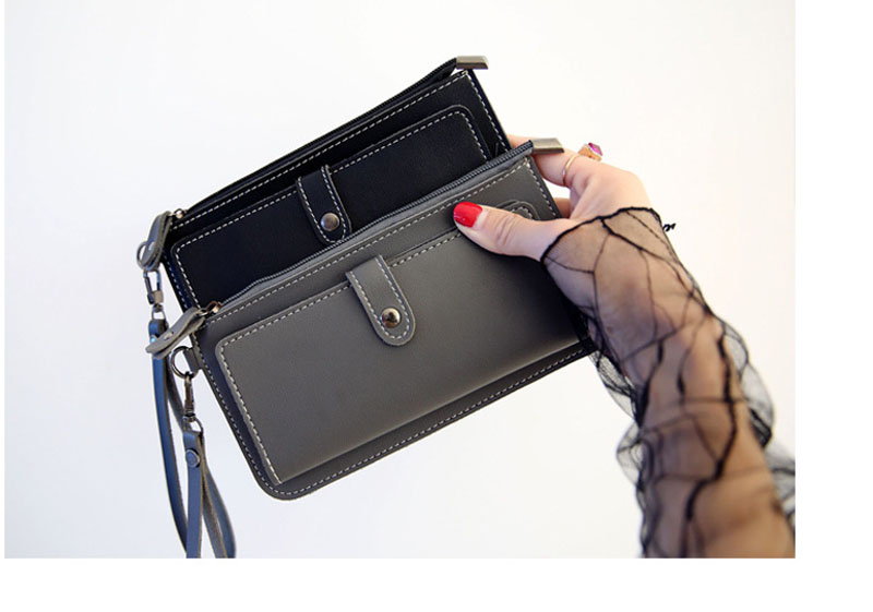 New  Fashion Women Wallets Long PU Leather Wallet Female Zipper Clutch  Ladies Credit Card Holder Girls Hasp Coin Purse ougold women wallet famous brand fashion smooth pu leather female thin hasp wallets red credit card holders