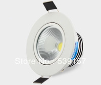 Wholesale Free Shipping COB 10W Dimmable Led Downlight Led Recessed Light With The Waterproof Powersupply