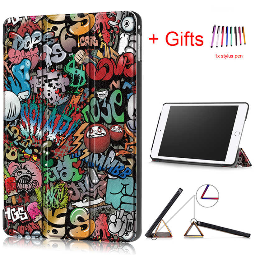 "Fashion Funda Case for iPad Mini 5 2019 New PU Leather Wake/Sleep Smart Stand Protective Cover for iPad Mini 5 4 7.9"" Case"