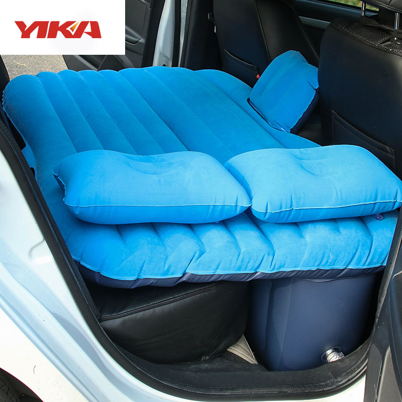 2017 Hot Sale Flocking Cloth Air Inflation Car Bed <font><b>Mattress</b></font> Back Seat Camping Flocking PVC Original Drive Travel Car Seat Cover