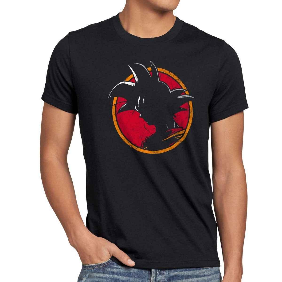 Goku/Винтажная Футболка Herren saiyajin roshi son dragon-ball Аниме z goten krillin Удобная футболка Повседневная футболка с короткими рукавами