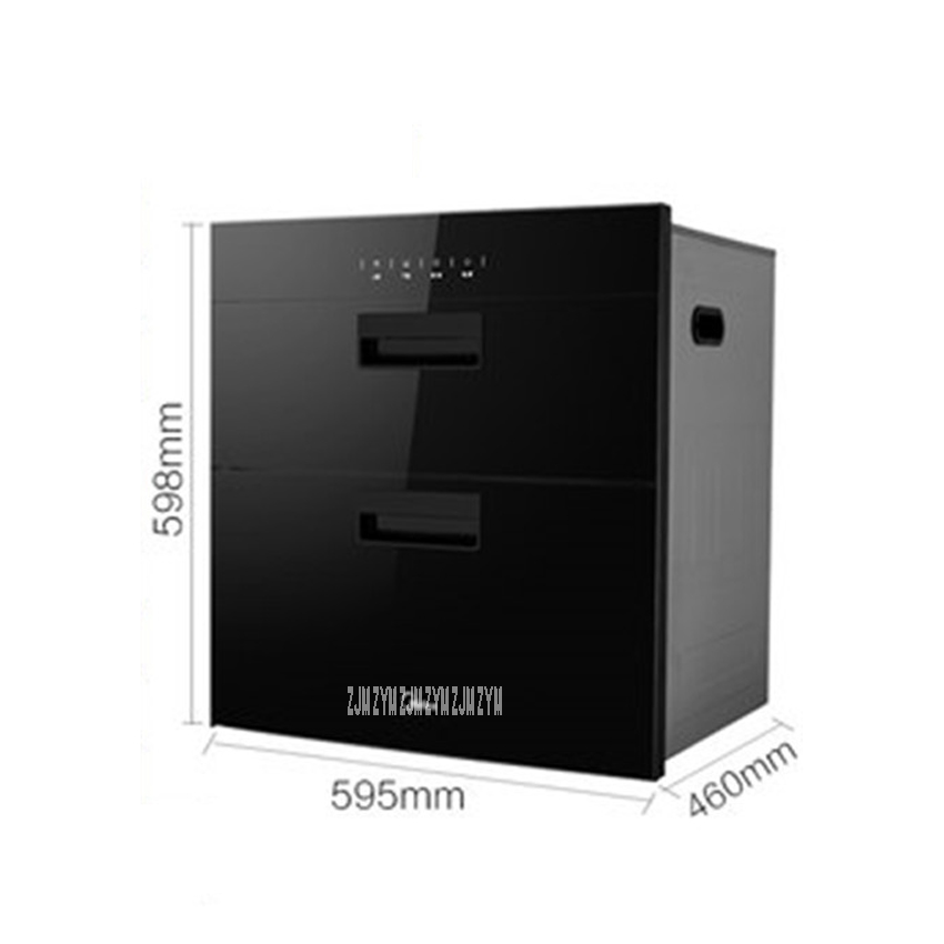 MXV-ZLP90Q15 kitchen 86L electronic touch control embedded disinfection cabinet infrared ultraviolet disinfection cupboard 3