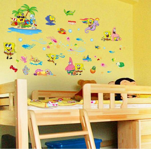 new spongebob squarepants cartoon wall stickers animals for kids ...