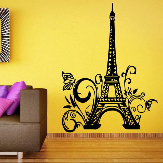 Wall Vinyl Sticker Room Decals Mural Design Paris France Eiffel ...