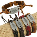 Hot selling models genuine leather bracelet ethnic fine jewelry charm bracelet new fashion fish bones for best friends