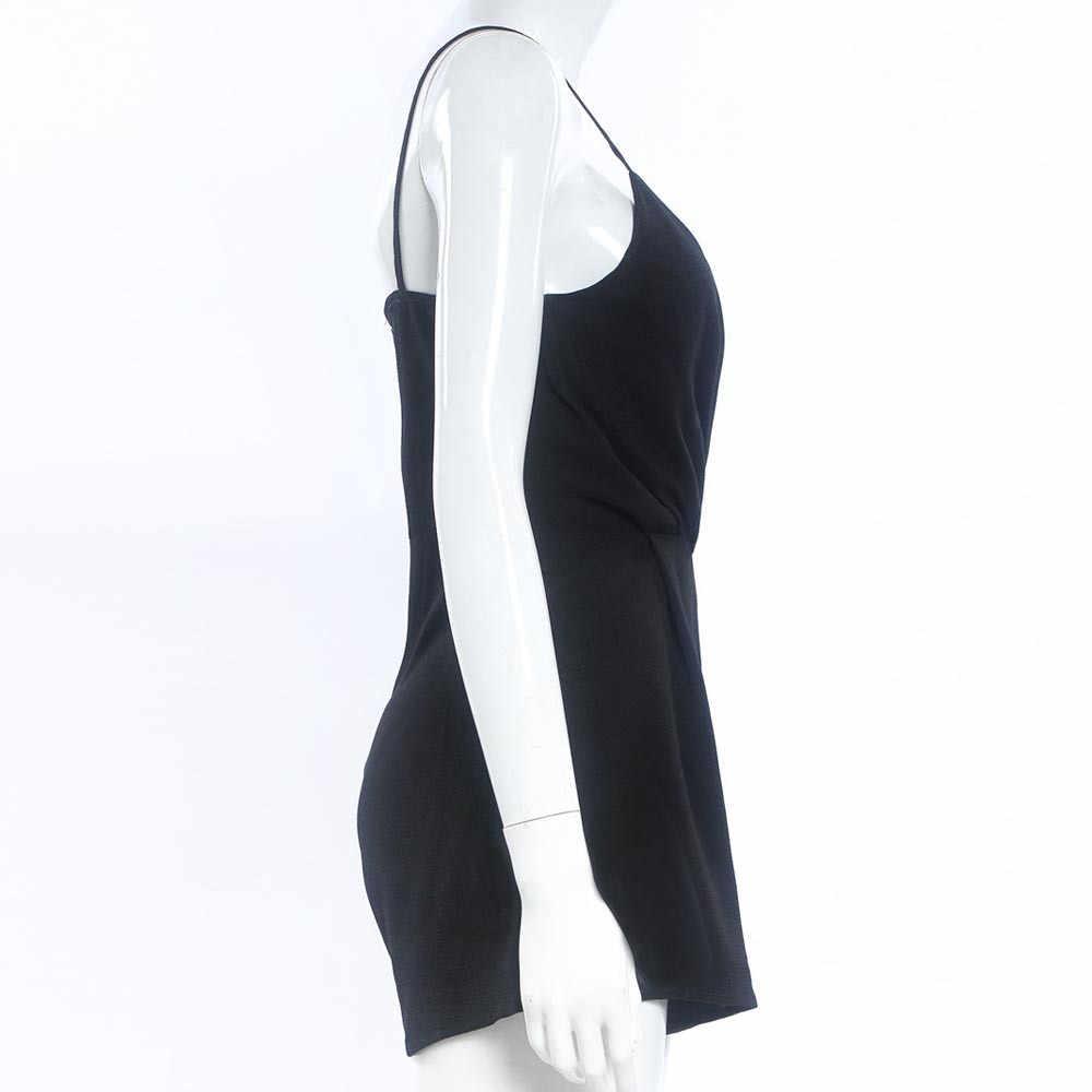 Gợi Cảm Playsuit Nữ Áo Bodycon Đen Thanh Lịch Jumpsuit Nữ Mùa Hè Áo Liền Quần Nữ Cổ Chữ V Bãi Biển Liền Quần Tổng Thể # YL