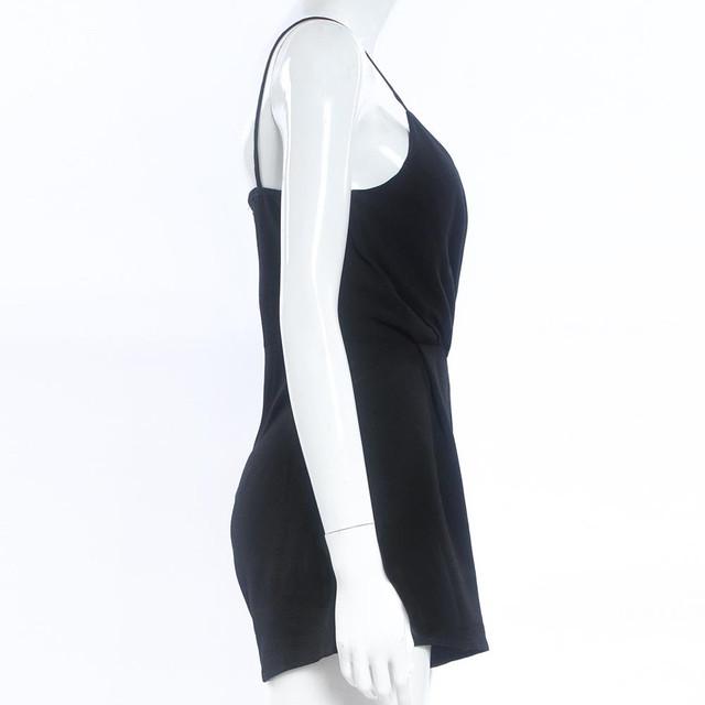 Sexy V-Neck Sleeveless Bodycon Black Elegant Romper