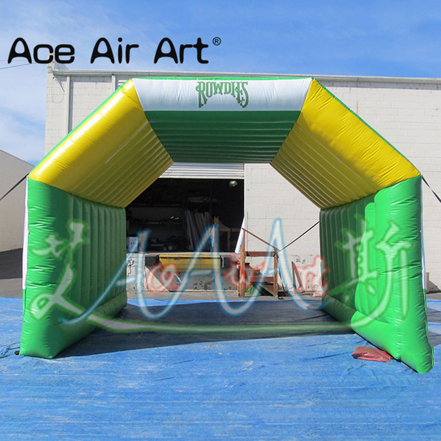 Colored inflatable tunnel tent,event station,pop up stage canopy entrance tent for sports