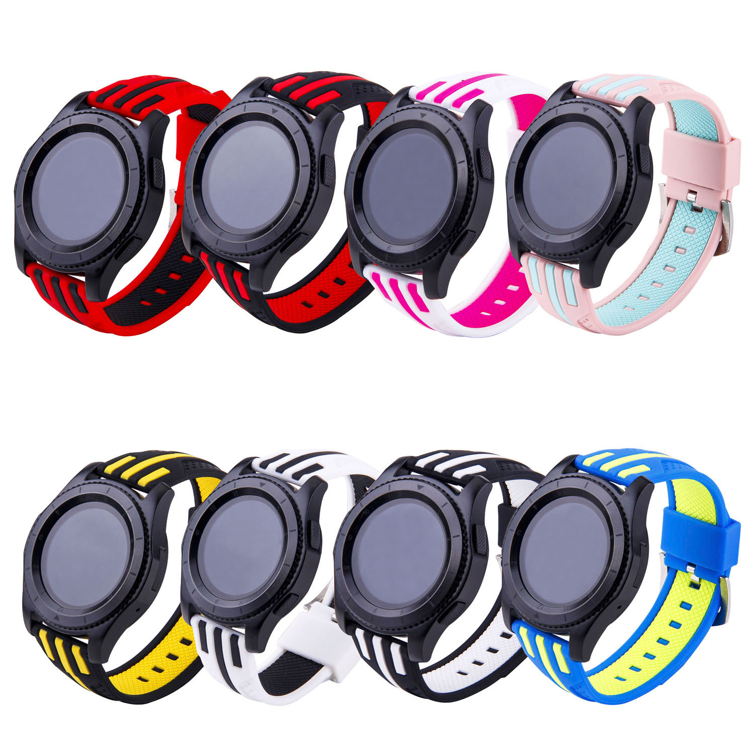 Stripe Silicone Strap for Samsung Gear S3 Band Replacement Bracelet for S3 R760 Classic S3 R770 Frontier Watch Band 22mm 18 colors rubber wrist strap for samsung gear s3 frontier silicone watch band for samsung gear s3 classic bracelet band 22mm