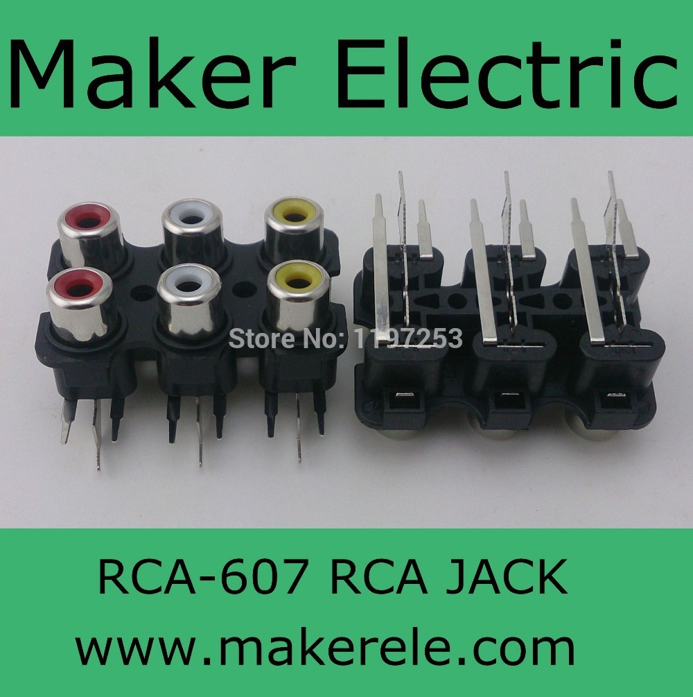 Free Shipping Mini Jack Rca Pin 607 Trip To 6 Dvi Schematic Ports Cinch Connector