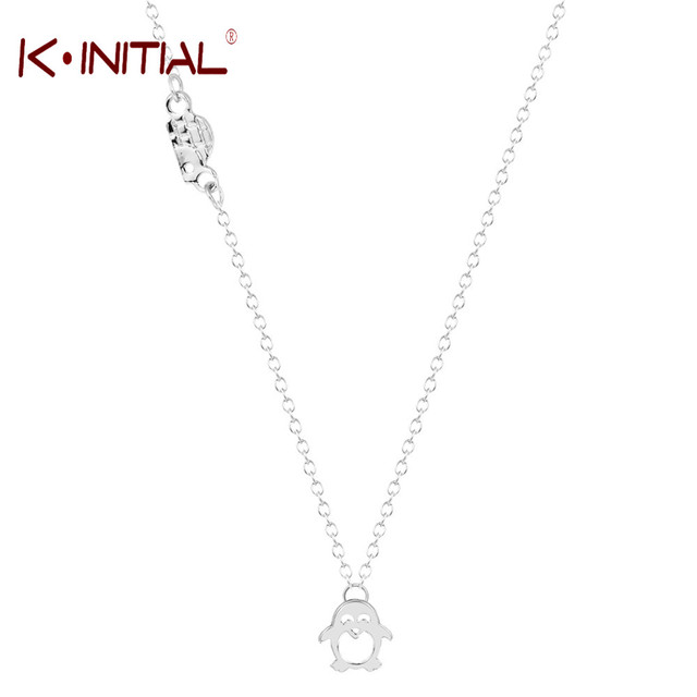 Kinitial 1pcs gold silver plated adorable penguin igloo charm love kinitial 1pcs gold silver plated adorable penguin igloo charm love gift necklace charm penguin pendant jewelry mozeypictures Images