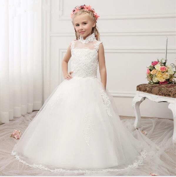 Здесь продается  Princess Customized Flower Girl Dresses Girls First Communion Dresses Kids Party Dresses vestidos de communion  Детские товары