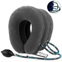 U Neck Pillow Air Inflatable Pillow Cervical Brace Neck Shoulder Pain Relax Support Massager Pillow Air Cushion Traction Soft цены