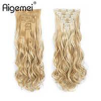 Aigemei Synthetische Haar Extensions Clip In Haar Extensions 20 Vollen Kopf Clip Auf Haar Verlängerung Lockige Faser HairPie 613 #