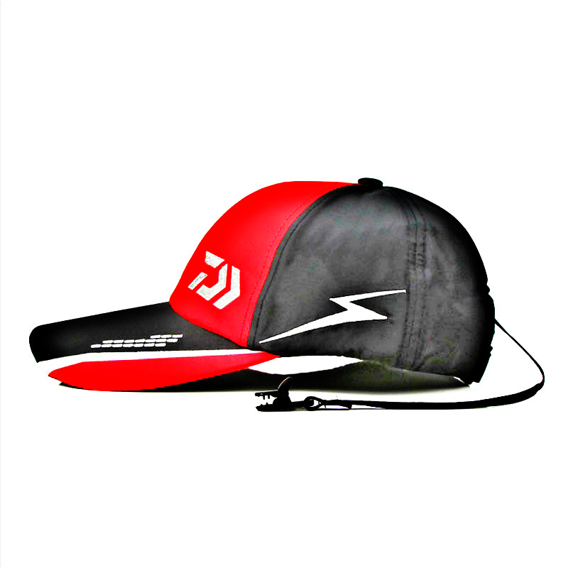 Image 2 - New Summer Daiwa Hat Outdoor Fishing Cap Baseball Cap Solid Outdoor Breathable Cotton Daiwa Fishing Hat Hip Pop Baseball Cap-in Fishing Caps from Sports & Entertainment