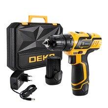 Электрический шуруповерт DEKO 10,8 В постоянного тока, дизайн, бытовой литий-ионный аккумулятор, мини-драйвер питания для деревообработки, светодиодный электроинструмент