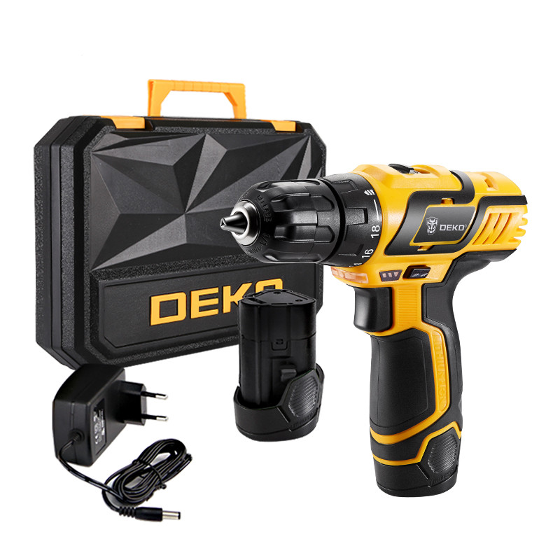 Electric Drill 10.8V DC New Design Household Lithium-Ion Battery Mini Cordless Drill/Driver Power Tools deko gcd10 8du3 10 8v dc new design household lithium ion battery cordless drill driver power tools electric mini drill