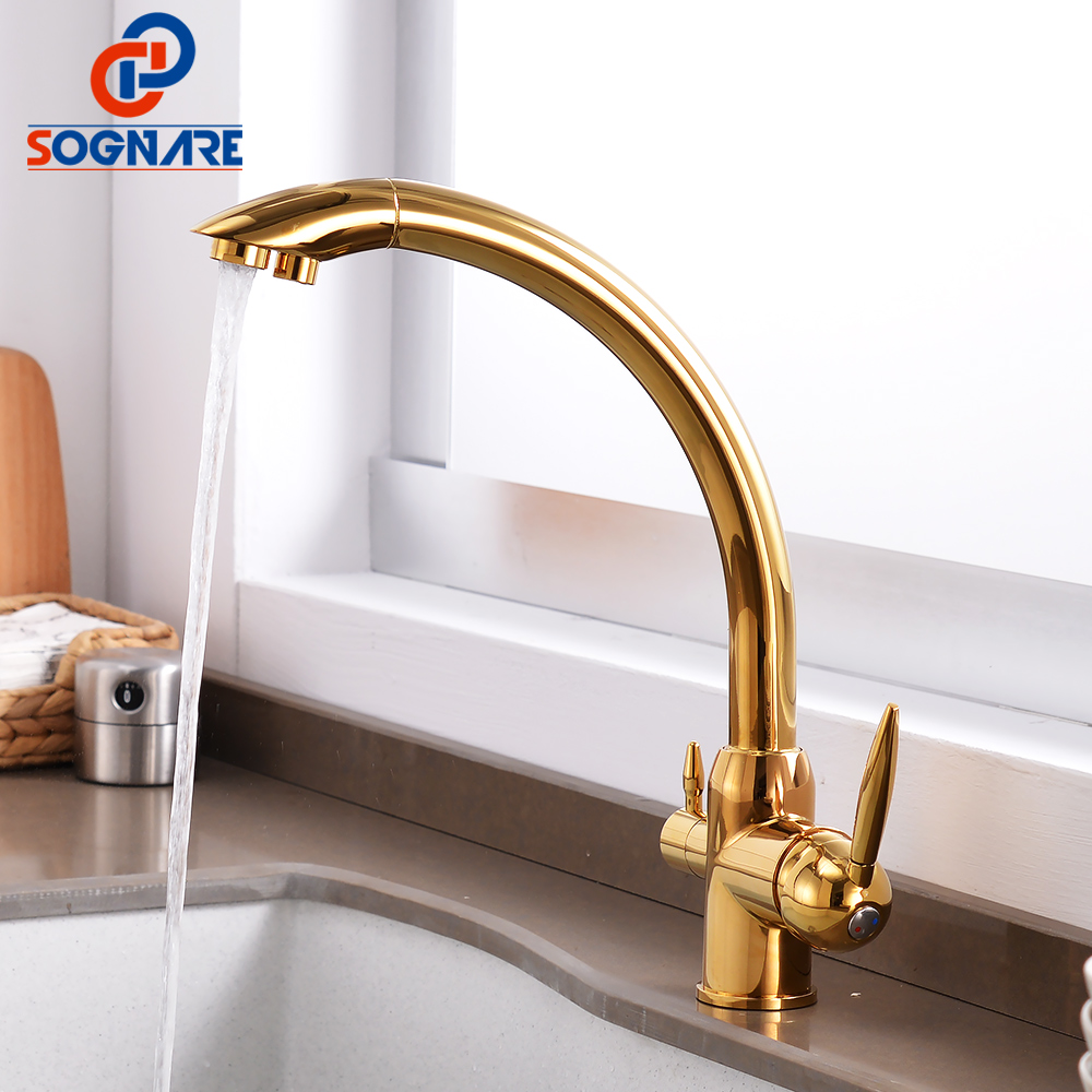 SOGNARE Kitchen Faucet 360 Degree Rotation Drinking Water Faucet Brass Water Purification Tap For Kitchen Mixer Sink Faucet