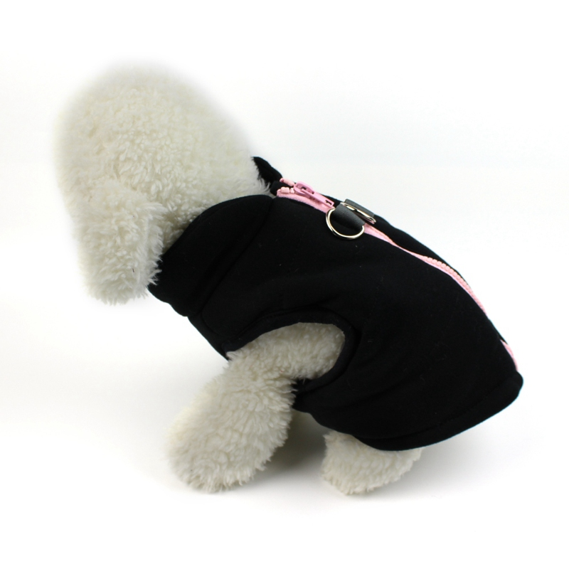 2019 Pet Dog Coat Fashion High neck Zipper Autumn Winter Vest for Small Medium Dogs Puppy Warm Costume in Dog Coats Jackets from Home Garden