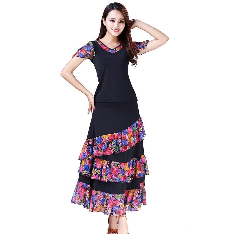 ballroom dance dress standard dance costume for lady competition waltz dress tango dancing wear grils trot dancewear L-XXL (4)
