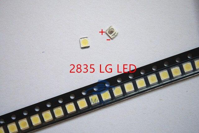 500 יח\חבילה 3528 2835 3V SMD LED חרוזים 1W LG 100LM קר לבן עבור הטלוויזיה LCD תאורה אחורית