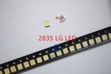 500 sztuk/partia 3528 2835 3V SMD LED koraliki 1W LG 100lm zimny biały do telewizora LCD podświetlenie