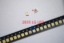 Lote de 500 unidades, 3528, 2835, 3V, SMD, LED Beads, 1W, LG, 100LM, blanco frío, para luz de fondo, LCD TV