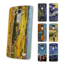 86a6373bd30 Vincent van Gogh noche estrellada duro estilo clásico fino claro teléfono  móvil Shell caso para LG G6 G5 G4 K8 2017 K10 K5 V10 V..