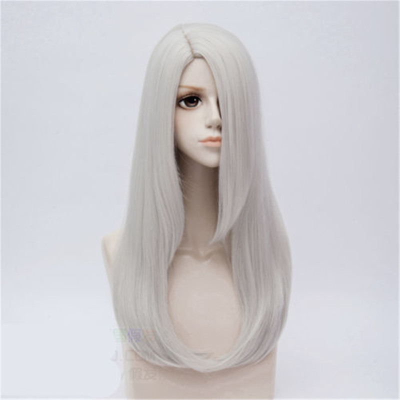 Anime YURI!!! on ICE Viktor Nikiforov Cosplay Wig Silver Grey Long Full Wig Periwig Halloween Party Stage Cosplay Costume Hair