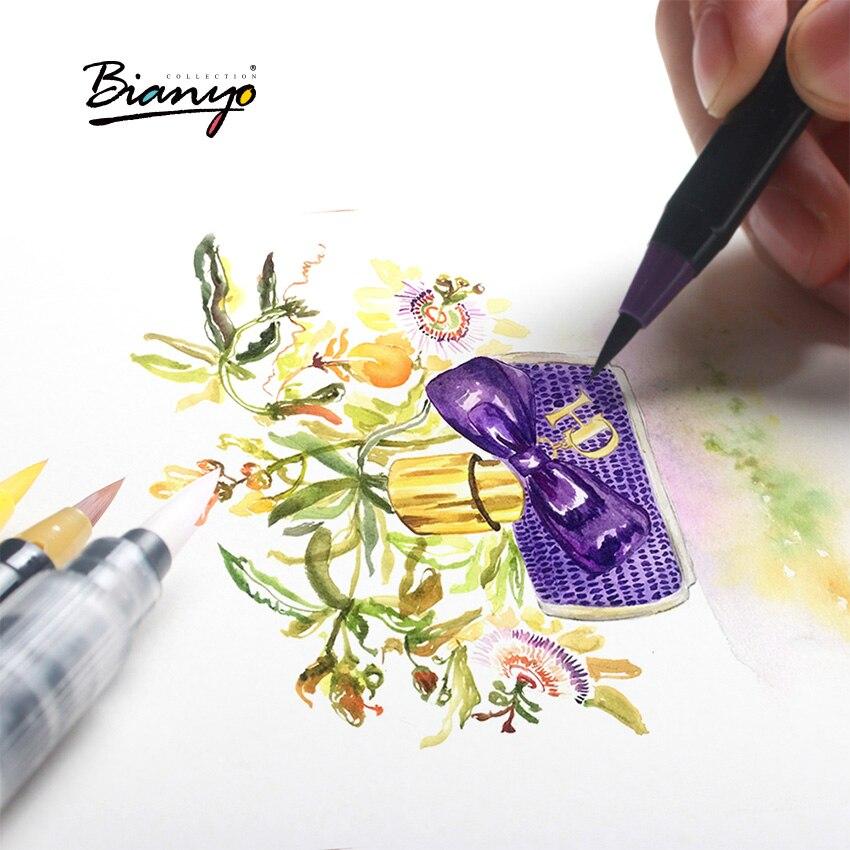Marcadores da Arte bianyo 20 cores aquarela pincel Quantidade : 20 Colors a Box