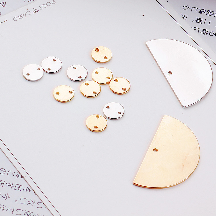 Beads & Jewelry Making Jewelry Findings & Components Practical Diy Accessories Green Copper Fittings Semicircle Double Orifice Round Minimalist Earrings Ear Clip Earrings Jewelry Materials