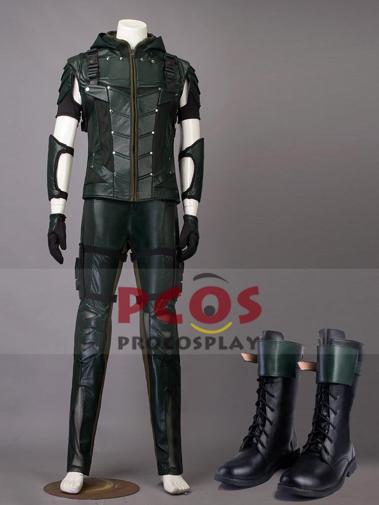 Խնայեց $ 30 !! Best Set Green Arrow Season 4 Oliver Queen - Կարնավալային հագուստները - Լուսանկար 1