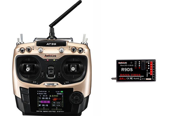 Radiolink AT9S 2.4G 9CH System Transmitter with R9DS Receiver AT9 Remote Control update vision for quadcopter Helicopter