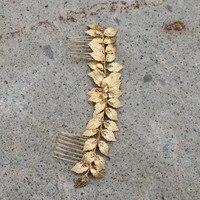 Jonnafe金箔birdalロングヘアくしラインストーンウェディングヘアつるアクセサリーローズゴールド女性ヘッドバンドヘアージュエリ
