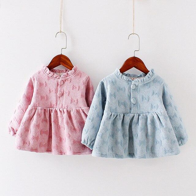 Aliexpresscom  Buy 2017 New Winter Baby Girl Dress Cotton Velvet Dresses For Little Girls Long -7127