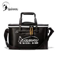 QUIANTU Outdoor Portable Fishing Bucket 30 35 40 45 50cm EVA Bucket Folding Bucket Portable Camping