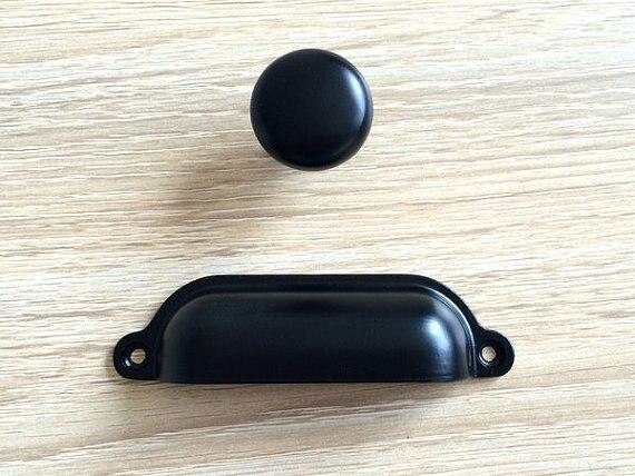 Black Dresser Drawer Pulls Handles Knobs Kitchen Cabinet