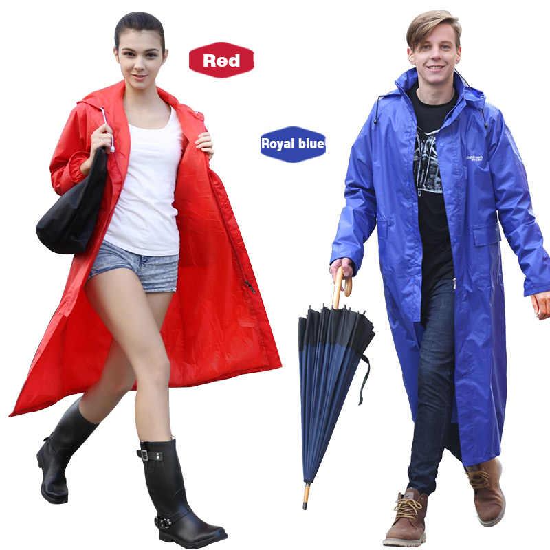 Rainfreem Kedap Air Jas Hujan Wanita/Pria Tahan Air Jas Hujan Poncho Single-Layer Hujan Mantel Wanita Jas Hujan Jas Hujan Poncho