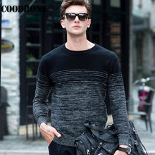 COODRONY 100% Merino Wool Sweater Men Winter Christmas Thick Warm Cashmere Sweaters Fashion Gradient Print O-Neck Pullover Homme