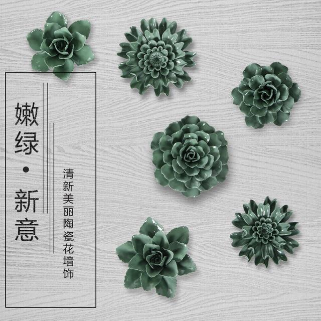 Темно-зеленый цветок декоративные настенные цветок посуда фарфор декоративные тарелки старинные домашнего декора ремесленных ремесел украшения комнаты