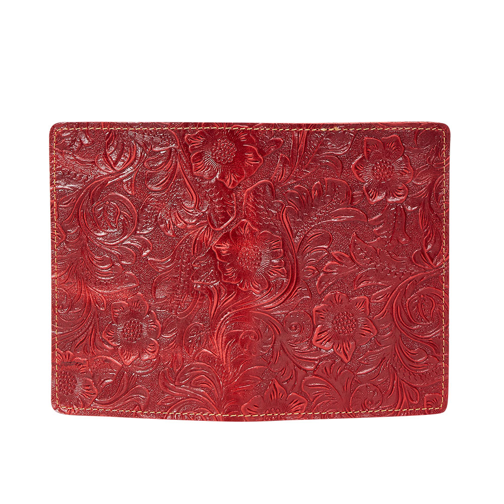K018-Women Passport Cover Purse-Red-04(10)
