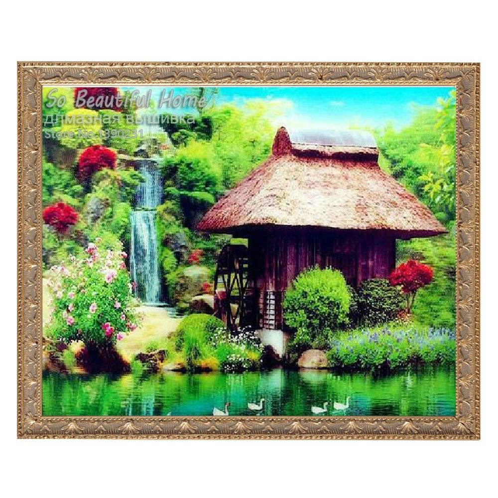 Вышивка зеленый дом