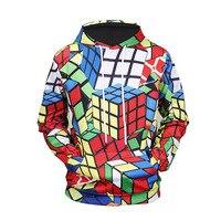 New Arrivals Hoodie Sweatshirt Men Women 3d Hoodies Print Rubik Cube Thin 3d Sweatshirts Hooded Hoodies