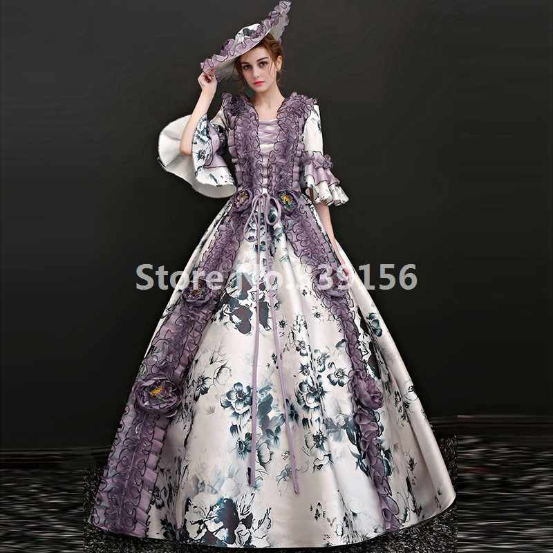 bbbb615610cd6 Marie Antoinette Queen Dresses Medieval Historical Ball Gowns Carnivale  Stage theater Dresses