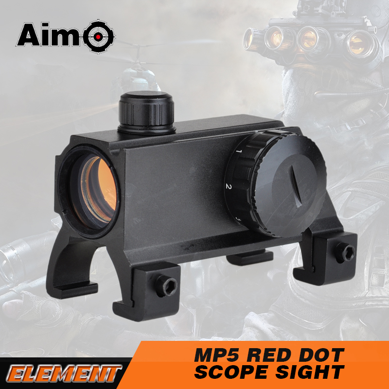 AIM O MP5 Red Dot Scope Sight Rifle Scope 1x20 Weapon Sight Fit HK MP5 G3