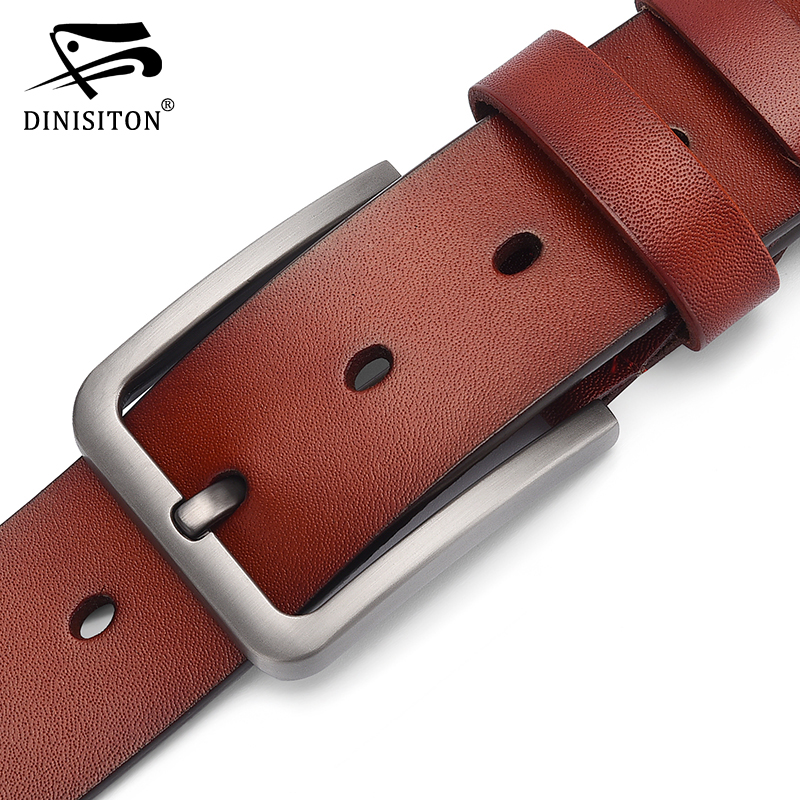DINISITON Leather Belt Men Genuine Leather Strap Male High Quality Cowhide Belts Brand Designer Luxury Pin Buckle Belt DS882